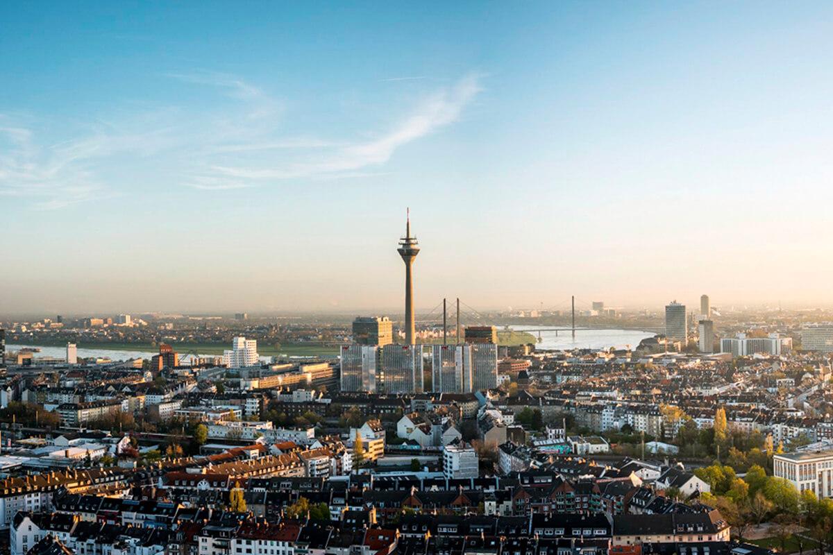Luftbild Düsseldorf Über uns Peter Post
